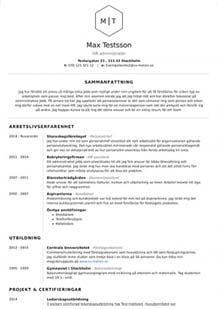 CV mall marknadsföring liten