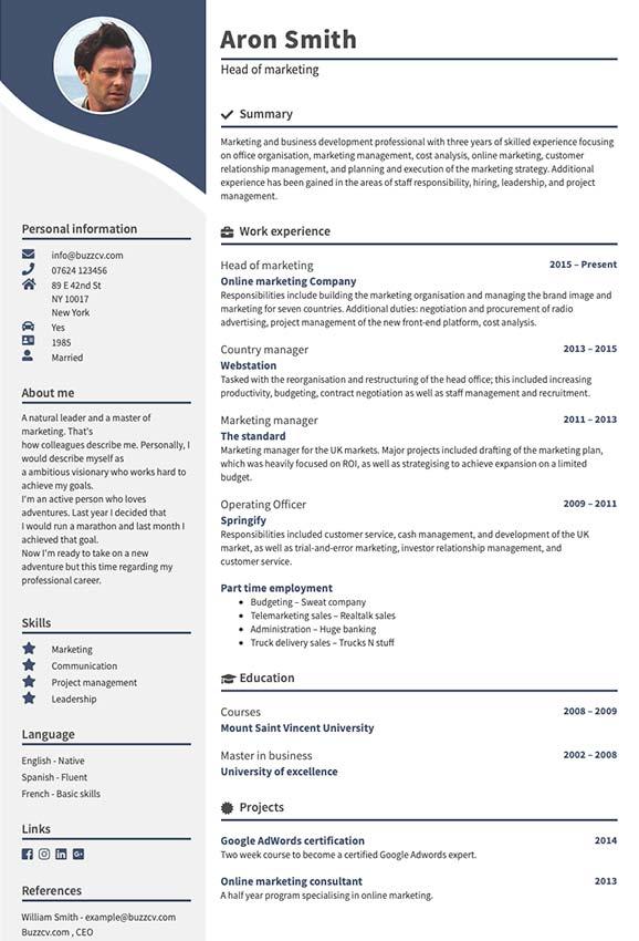 Populär CV mall Stjärnfall