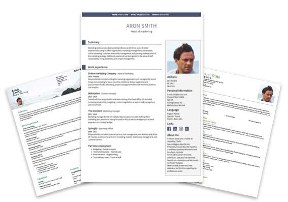 Professionella CV mallar