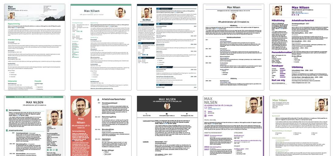 Stort utvalg av gratis CV-maler
